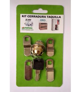 Kit Cerraduras Taquilla 20 ORO
