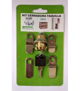 Kit Cerraduras para Taquilla 25 ORO