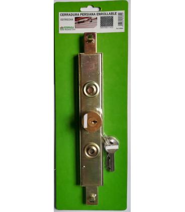Cerradura persiana enrollable estrecha