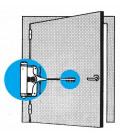 Muelle de puerta zincado