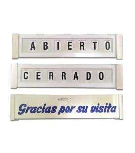 CARTEL ABIERTO-CERRADO MOVIBLE
