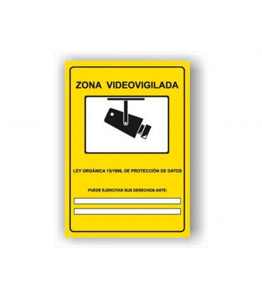 Señal Adhesiva Zona Videovigilada