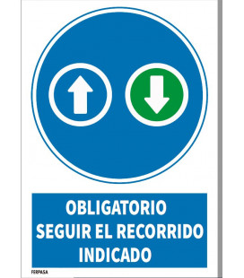 Cartel obligatorio control temperatura
