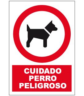 Cartel Nº3030 Cuidado Perro Peligroso